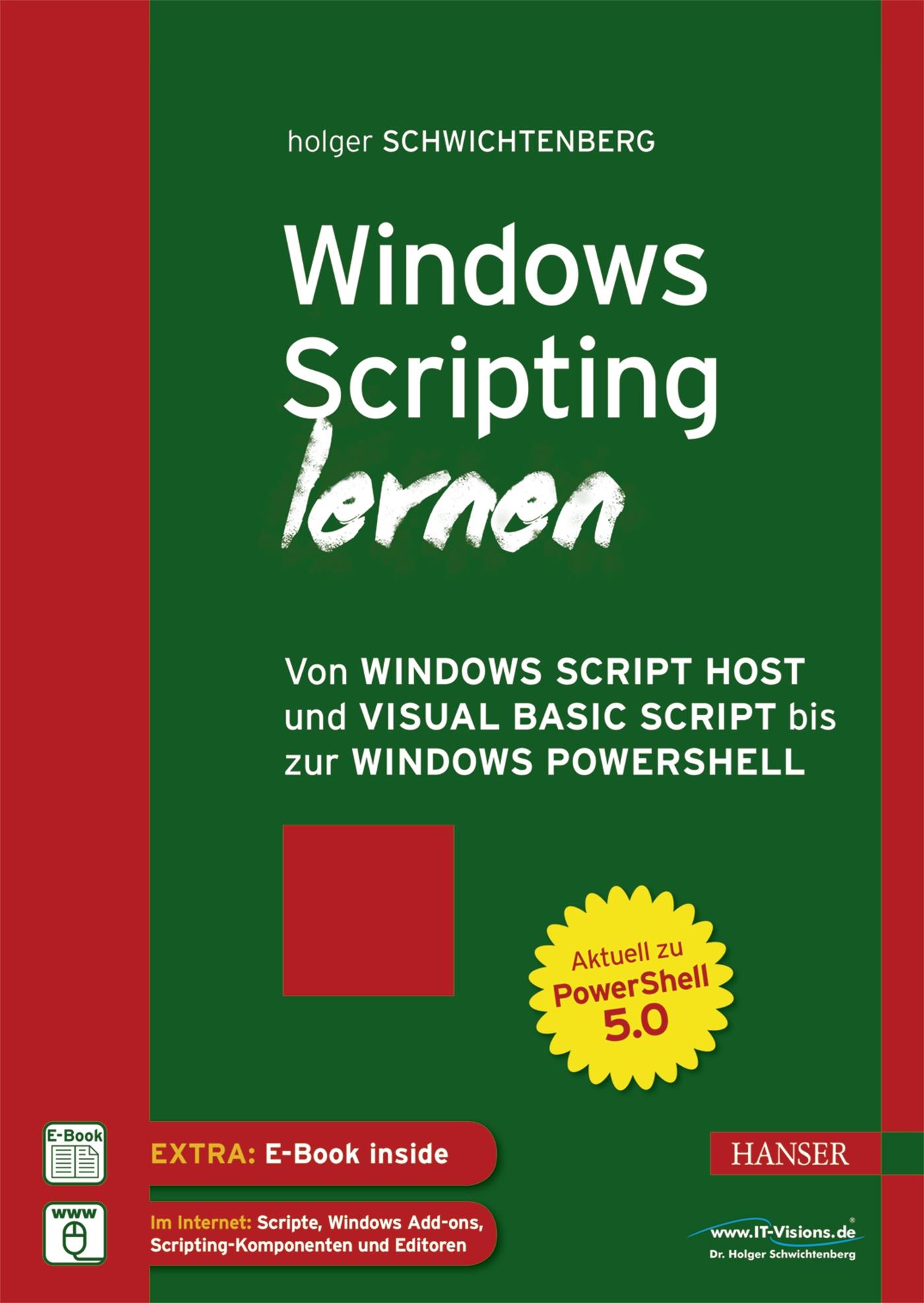 windows scripting lernen hanser fachbuch. Black Bedroom Furniture Sets. Home Design Ideas
