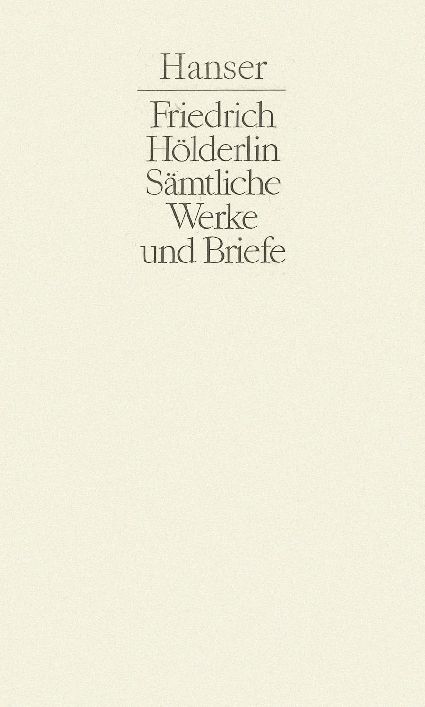Sämtliche Werke und Briefe Band II