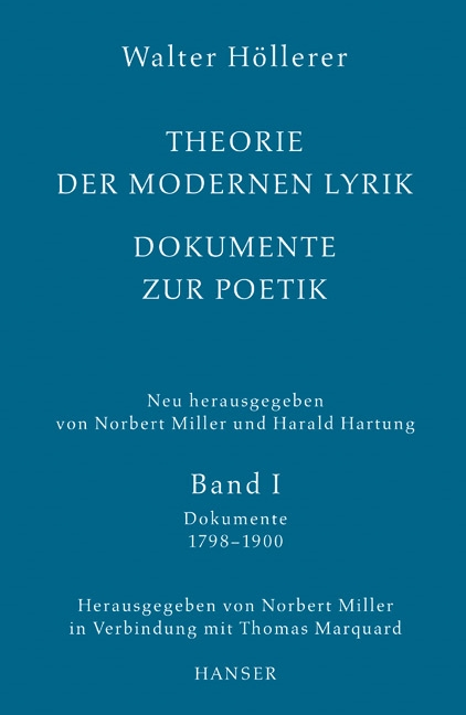 Theorie der modernen Lyrik