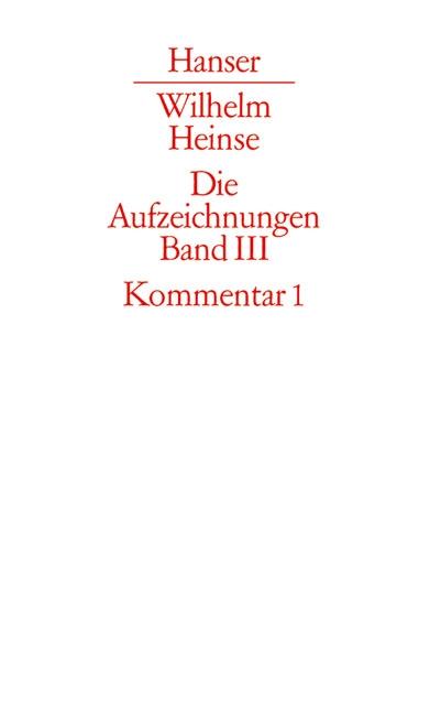 Die Aufzeichnungen. Frankfurter Nachlass