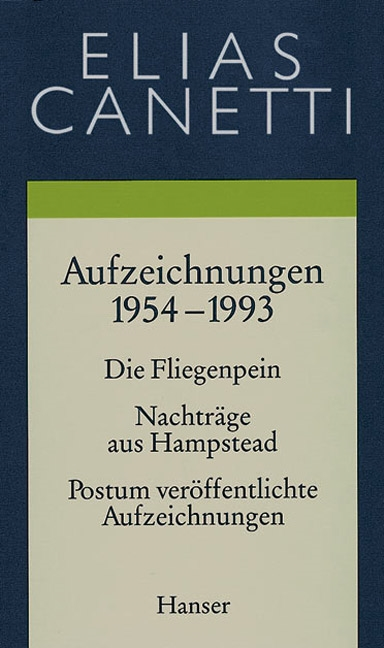 Gesammelte Werke Band 5: Aufzeichnungen 1954-1993