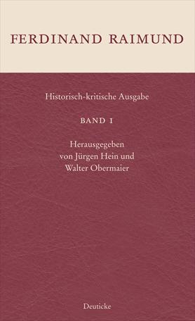 Historisch kritische Ausgabe Band 1